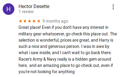 Customer Review 1
